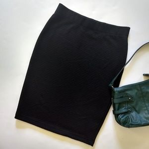 Banana Republic Textured Black Pencil Skirt